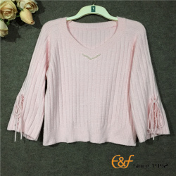 Big Cuffs with Rope Adornment Graceful Sweater