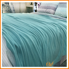 Южный Tide Cotton Plain Stripe Full Blue Blanket
