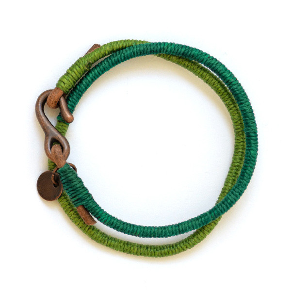 Handmade Colorful Brass Plated S Hook Leather Bracelet