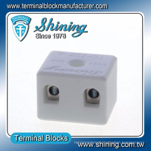 TC-202-A Thermocouple 600V 20A 2 Pin Ceramic Connector Block