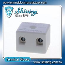 TC-202-A Thermocouple 600V 20A Bloco de conector de cerâmica com 2 pinos
