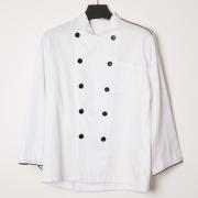 White OEM logo CVC chef cooker uniform clothes