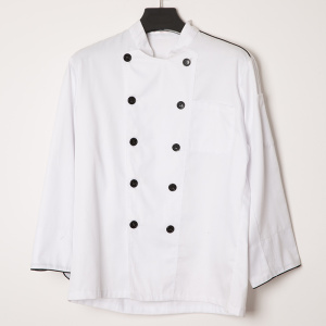 White OEM logo CVC chef cooker uniform clothes