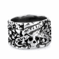 Personality hipster nightclub skull ring