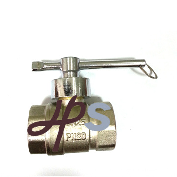 Hot forging brass lockable magnetic ball valve with nickel surface