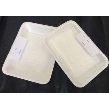 Emballages jetables de nourriture de mousse de styrol de empaquetage de viande et de volaille et de poulet avec des garnitures absorbantes