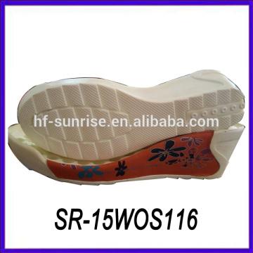 Späteste neue pu-Sohlen für machen Sandelholze kundenspezifische Schuhsohlen kundenspezifische Schuhsohlen