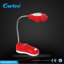 Ajustável mini sapato bateria levou lâmpadas de mesa e lâmpadas de leitura