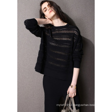 Fashion Clothing Hollow Nylon Knit Women Sweater