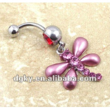Dragonfly body jewelry piercing ventre anneau ombre bouton bague