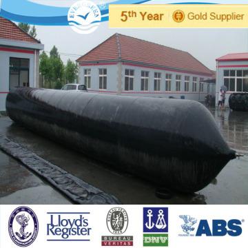 Evergreen inflable de goma cilíndrica lanzamiento de airbags marinos utilizados para embarcaciones, buques, en los astilleros de Turquía y Brasil