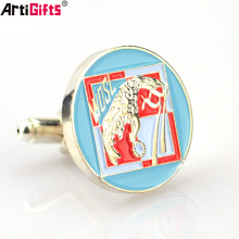 China factory supply custom cheap enamel metal shirt studs and cufflinks