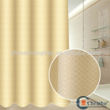 Poliéster jacquard ducha cortina revestimiento resistente al moho