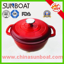 Carbon Steel Enameled Casserole with Customized Color