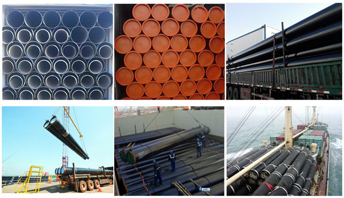 erw steel pipe pack and shipping