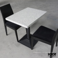 mesa de bar de resina de superfície sólida de poliéster & acrílico & mesas de café