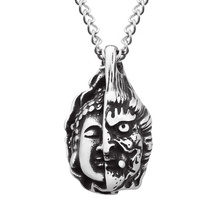 High End Fashion Stainless Steel Saint Buddha Acero Inoxidable Arabic Necklace Jewelry Necklace