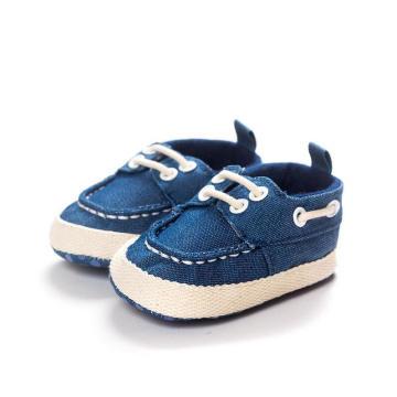 Infantil Criança Mocassins Moda Denim Pano Macio Sola Sapatos De Bebê