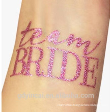 Custom flash glitter powder temporary tattoo stickers for party