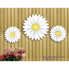 Metal Set of 3 pcs Daisy Wall Decor or fence decor