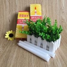 Bright Light Yellow Box White Wax Candles