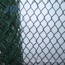 Valla de enlace de cadena verde recubierta de PVC barato