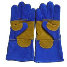 Safety Welder′s Gloves, Cow Split Leather Welding Glove