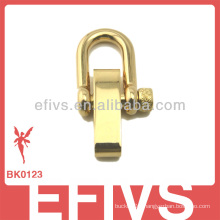 2013 new fashion light golden stainless steel adjustable shackle for paracord bracelet
