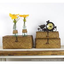 (BC-ST1073) Good Quality Pure Manual Natural Straw Basket