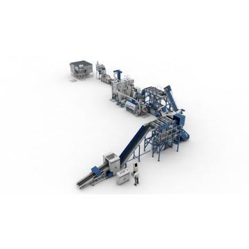 Waste PP PE Film Recycling Granulation Line