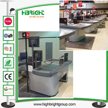 Italy Design Electric Checkout Counter with Conveyor Belt