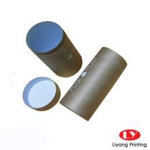 Caixa de embalagem de tubo de papel kraft marrom reciclável