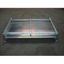 Entreposage en métal repliable Boîtier empilable en métal pliable