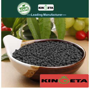 Slow acting organic biochar compound fertilizer