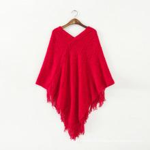 Женский свитер кардиган палантины зимние вязаные шали пончо (SP612)