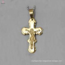 Gemstone Crystal stainless steel Cross Pendant