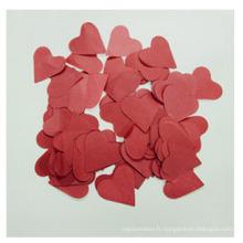 Confettis de mariage de couleur rouge de papier de soie de 28GSM pour la décoration