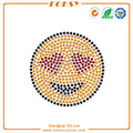 Emoji hot fix iron on rhinestone transfers