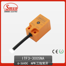Conmutador de proximidad inductivo 6-36VDC Tres hilos DC NPN Normalmente sensor abierto con 5mm de distancia de detección