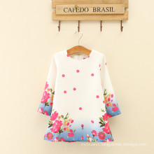 woman three quarter floral length fashion dress designs children birthday women party high class clothes