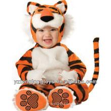 Рекламные плюшевые животных Tiger младенческой Romper