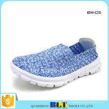 Sapatos de senhora tecida