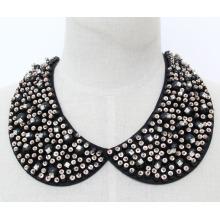 Frau Mode Modeschmuck Perlen Kristall Halskette Kragen (JE0143)