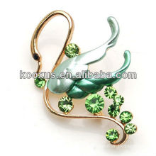 Fashion swan design crystal brooch bouquet jewelry