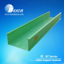 Bandeja de rejilla portacable fabricante Bandeja de cable FRP (fibra de vidrio)