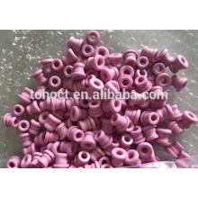 Mirror surface polishing textile ceramic eyelets/ yarn guides with slot