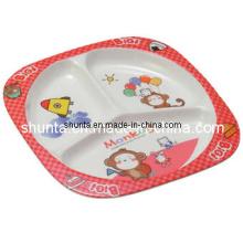 Vaisselle 100% en mélamine - Vaisselle à 3 compartiments pour enfants / Vaisselle en mélamine de qualité alimentaire (BG803)