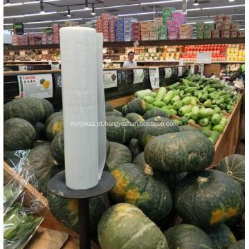Saco plano HDPE Saco plástico em rolo para supermercado