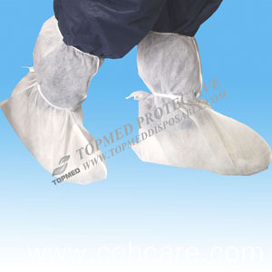 Disposable PP+CPE Shoe Cover for Women Used in Medical and Healthcare