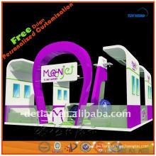 Stand personalizado de feria, stand de exposición portátil con marco de aluminio de diseño de exposición
